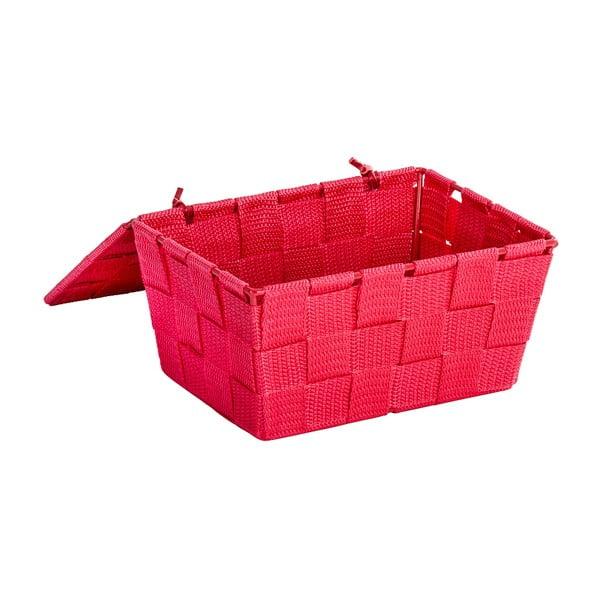 Červený košík s víkem Wenko Adria