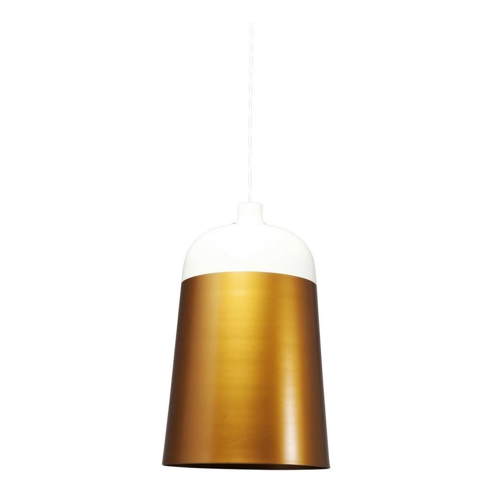 Bílé stropní svítidlo s detaily ve zlaté barvě Kare Design La Oila, ⌀33cm