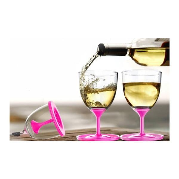 Sada skleniček na víno Stack N' Go Vino, růžová