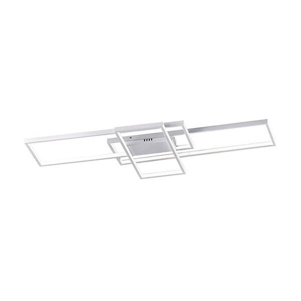 Biała metalowa lampa sufitowa LED Trio Tucson, 42x8,5 cm