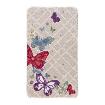Covoraș de baie Confetti Bathmats Butterfly, 80 x 140 cm, bej de la Confetti