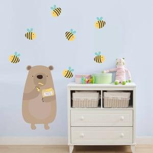 Samolepka na stěnu Medový méďa, 70x50 cm