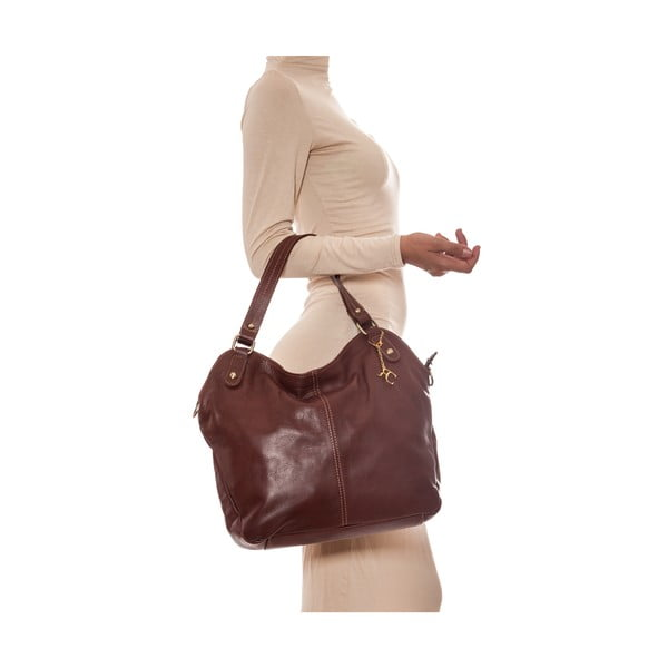 Kožená kabelka Classy 2114 Marrone