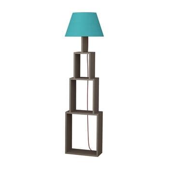 Lampadar cu abajur albastru deschis Homitis Tower imagine