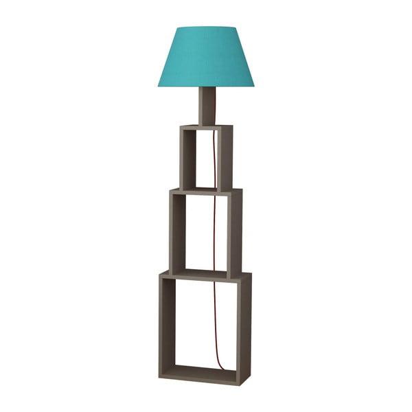 Volně stojící lampa se světle modrým stínítkem Homitis Tower