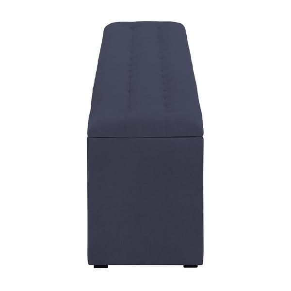 Tmavě modrý otoman s úložným prostorem Windsor & Co Sofas Nova, 140 x 47 cm