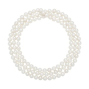 Lănțișor cu perle albe  ⌀ 6 mm Perldesse Muschel, lungime 90 cm