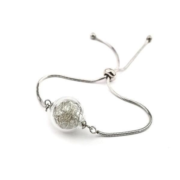 Brățară cu mărgea din sticlă Ko-ra-le Precious Embrace, argintiu