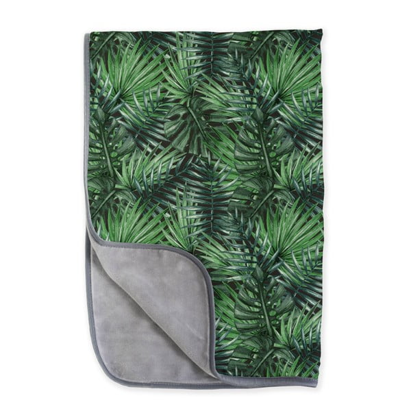 Dwustronny pled z mikrowłókna Surdic Jungle, 130x170 cm