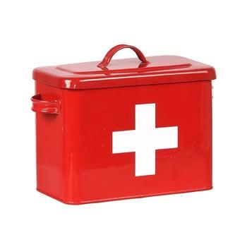 Recipient din tablă LABEL51 Firt Aid, roșu