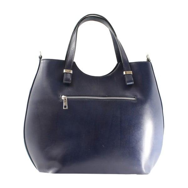 Modrá kožená kabelka Chicca Borse Denisse