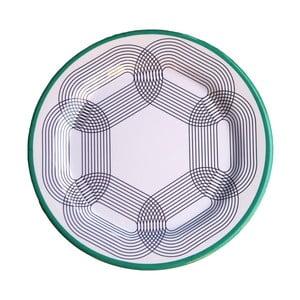 Sada 6 melaminových talířů Sunvibes Maillon Vert, ⌀ 25 cm