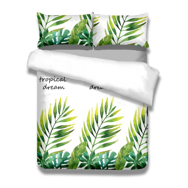 Zestaw pościeli bawełnianej i 2 poszewek na poduszki AmeliaHome Averi Makia, 200x220 cm + 70x90 cm