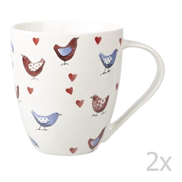 Sada 2 ks hrnků Lovebirds, 500 ml