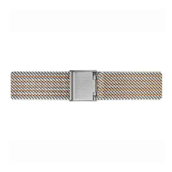 Dámské hodinky s páskem z nerezové oceli ve stříbrné a zlaté barvě Emily Westwood Rosa