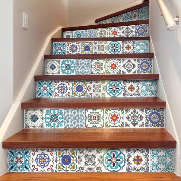 Sada 2 samolepiek na schody Ambiance Stickers Stair Ivano, 15 x 105 cm