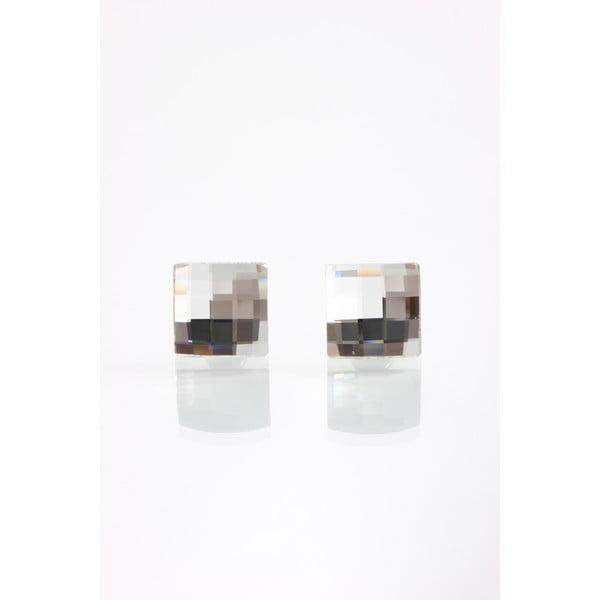 Náušnice Laura Bruni Clear, 10 mm