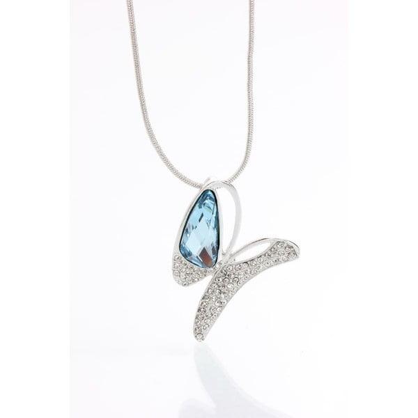 Náhrdelník se Swarovski Elements, modrý motýl