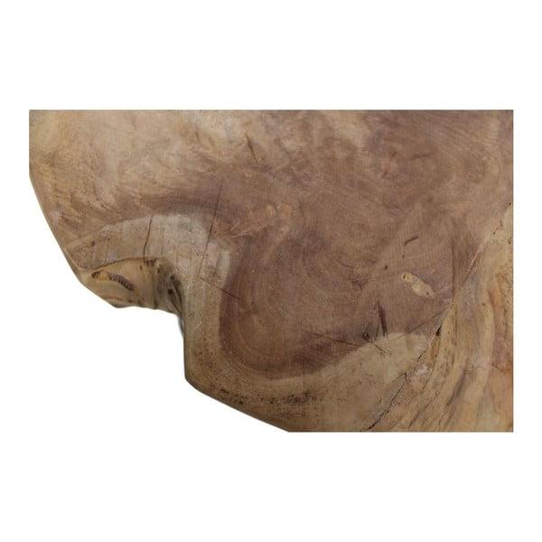 Odkládací stolek z teakového dřeva HSM collection Live Edge, 55 x 50 cm