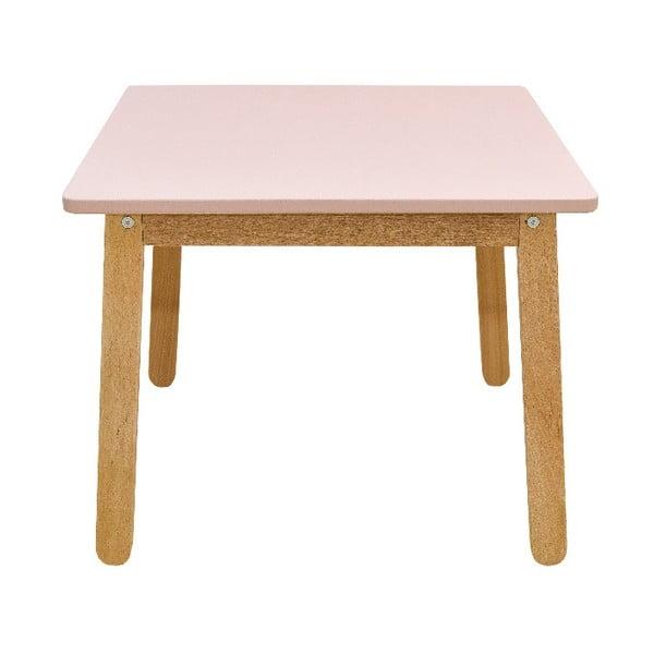 Jasnoróżowe biurko dziecięce BELLAMY Woody