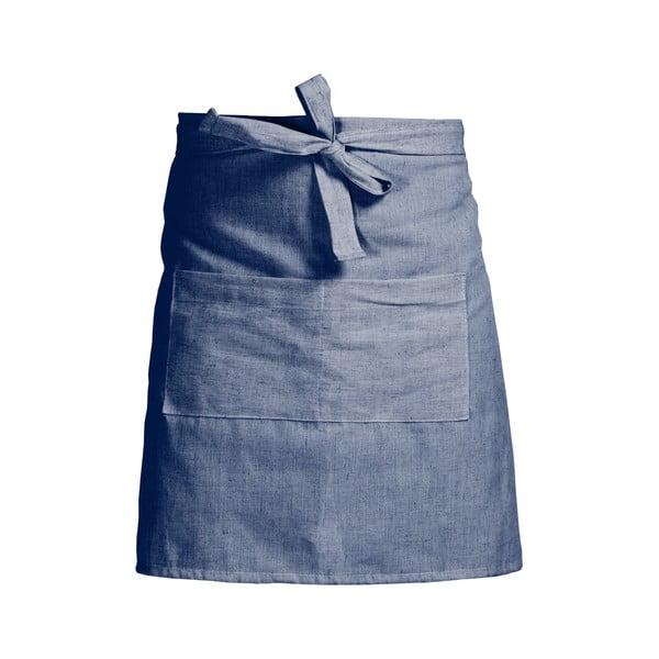Modrá zástera s prímesou ľanu Linen Couture Delantal Blue