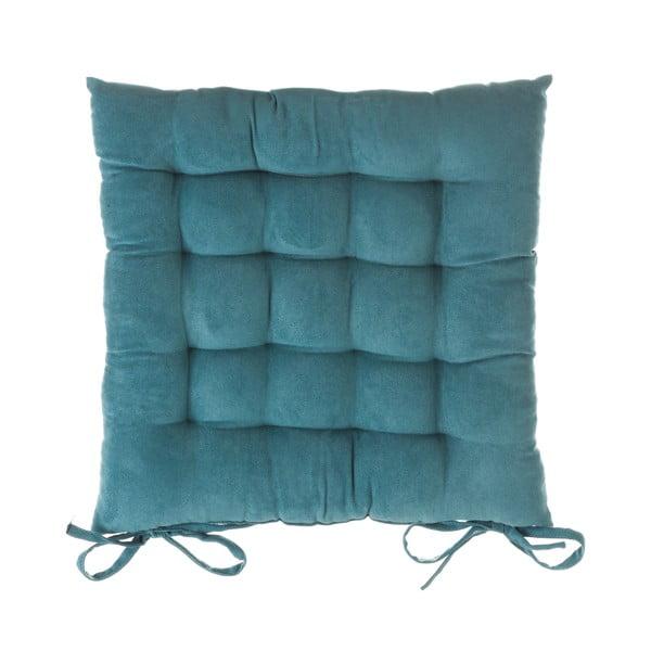 Niebieska poduszka na krzesło Unimasa, 40x40 cm