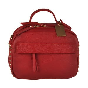 Červená kožená kabelka Matilde Costa Rafaela