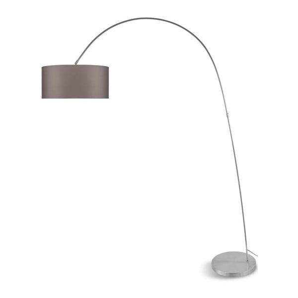 Šedá volně stojící lampa se šedým stínidlem Citylights Bolivia