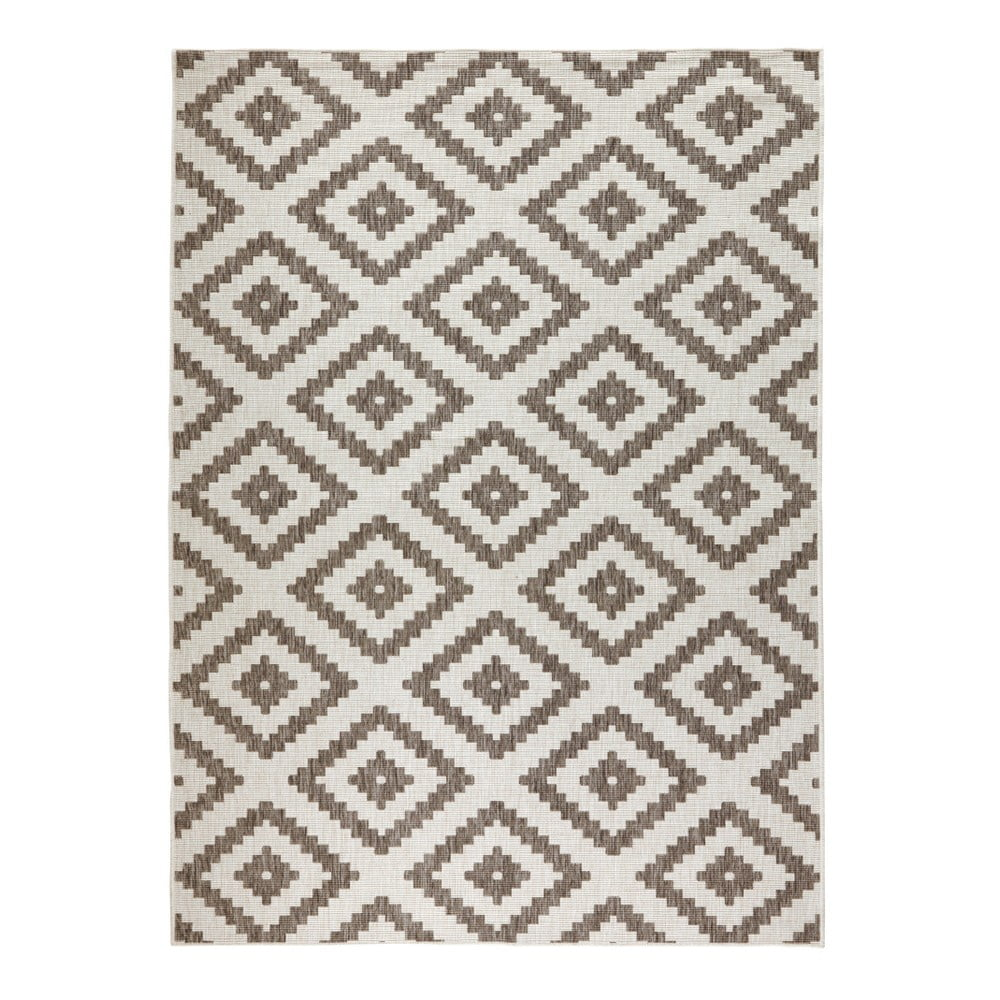 Hnědý vzorovaný oboustranný koberec Bougari Malta, 160x230 cm