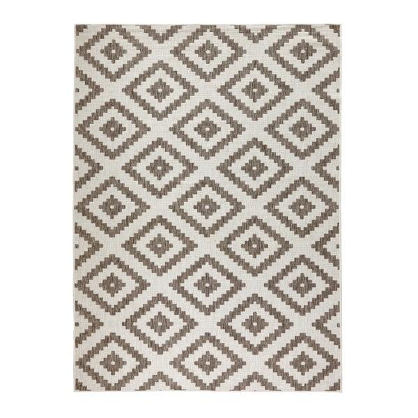 Brązowy dywan dwustronny odpowiedni na zewnątrz Bougari Bougari Malta, 200x290 cm