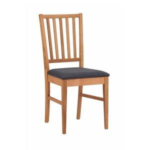 Scaun din lemn de stejar cu șezut negru  Folke Mimi