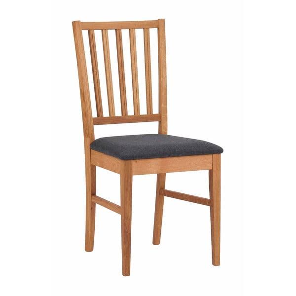 Scaun din lemn de stejar cu șezut negru Rowico Mimi