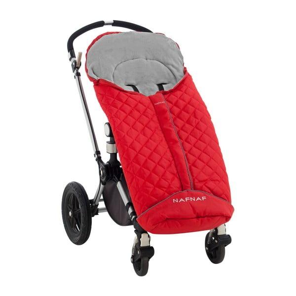Czerwony śpiwór zimowy do wózka Naf Naf Rombo