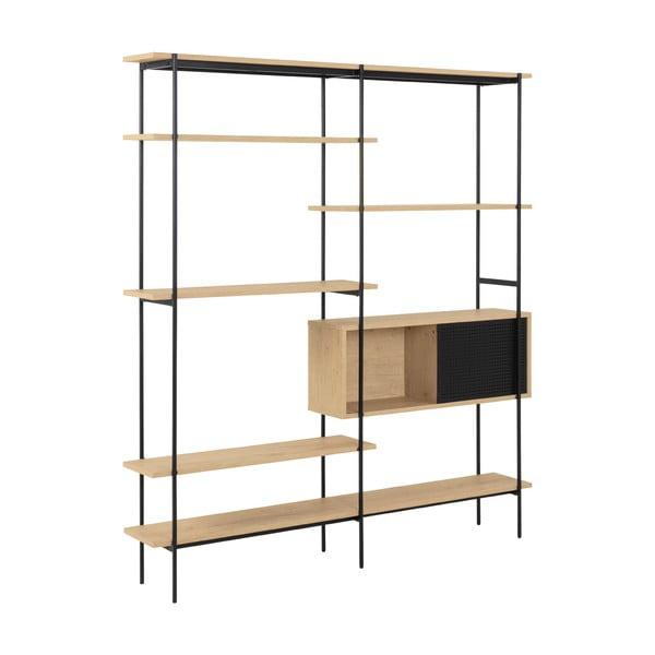 Bibliotecă Actona Seaford, înălțime 188 cm, maro - negru