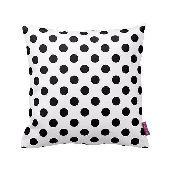 Černobílý polštář  Dot,43x43cm