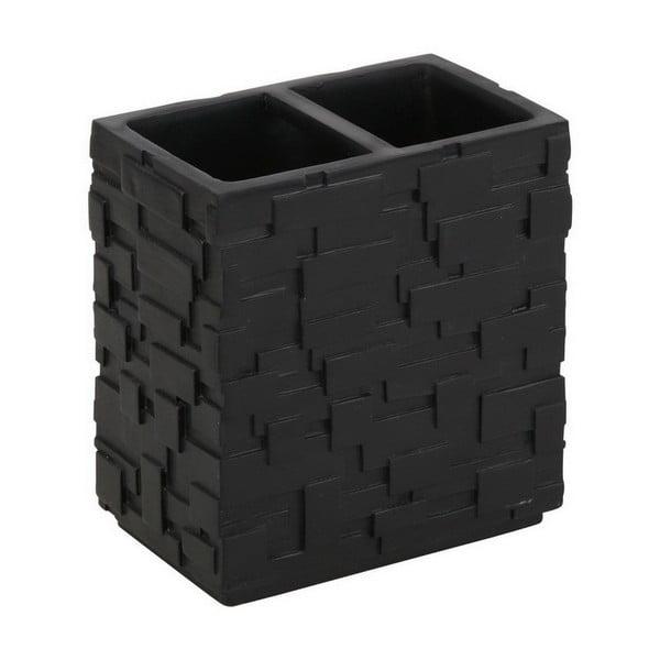 Čierny pohárik na zubné kefky Tomasucci Wall