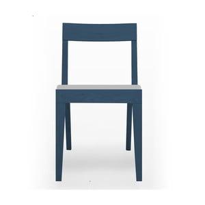 Modrá čalouněná židle  z dubového dřeva  Another Brand Cubo Light Grey