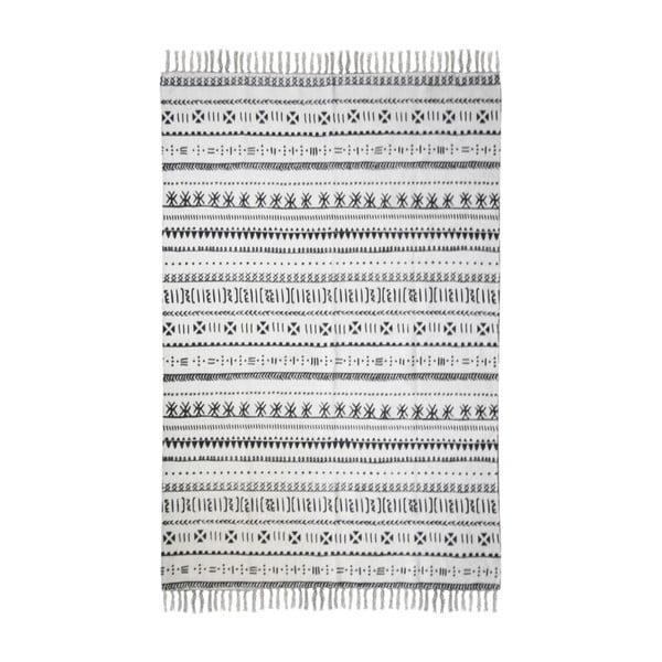 Černobílý bavlněný koberec HSM collection Colorful Living Manio, 70 x 120 cm
