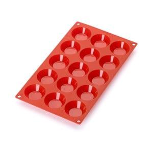 Červená silikonová forma na 15 mini dezertů Lékué