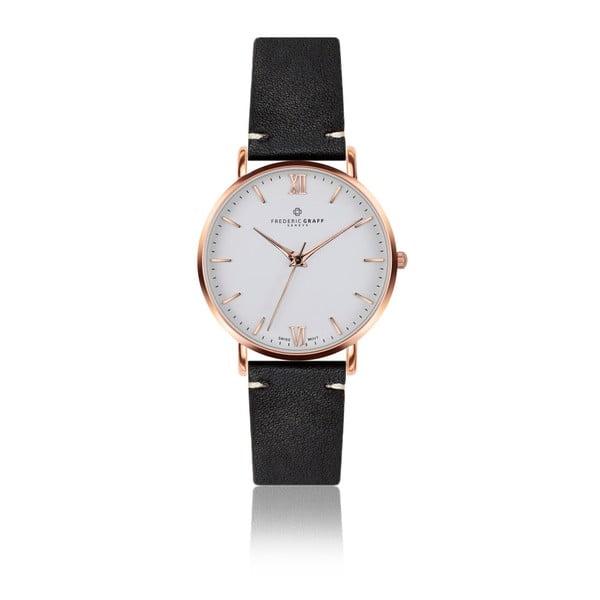 Zegarek męski z czarnym paskiem skórzanym Frederic Graff Rose Dent Blanche Black