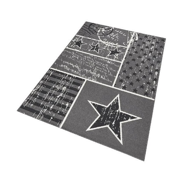Dětský šedý koberec Hanse Home Stars, 140x200cm