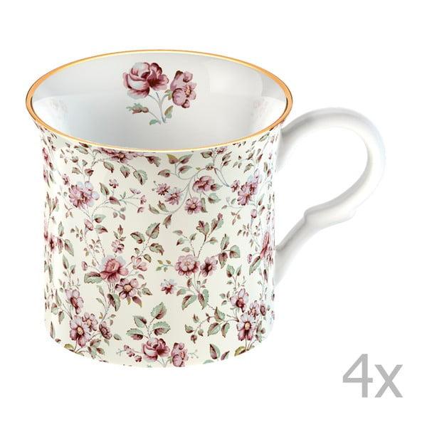 Sada 4 bílých hrnků Creative Tops Katie Alice Ditsy Flower 250 ml