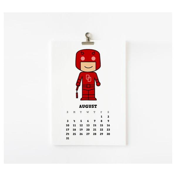 Kalendář na rok 2014 - Cute Superhero