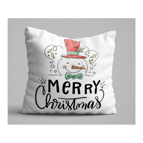 Christmas Snowman párna, 45 x 45 cm