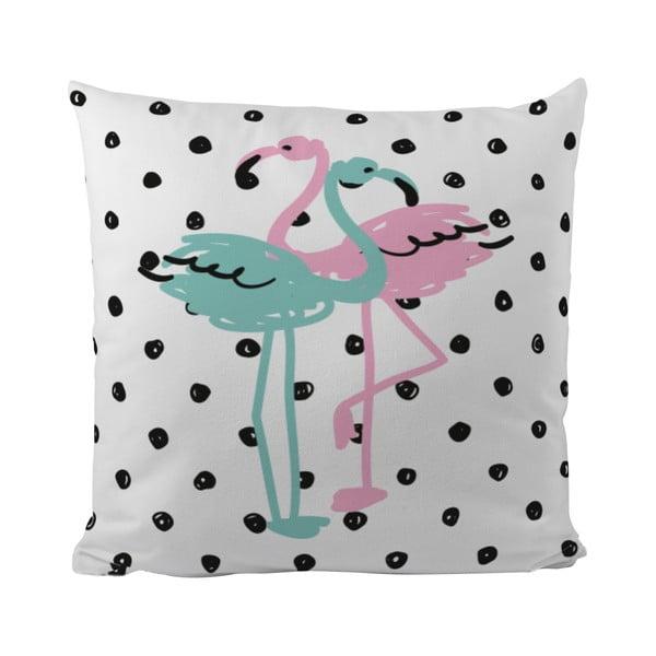Polštář Flamingo Duo, 50x50 cm