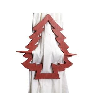 Červený úchyt na závěsy Antic Line Christmas