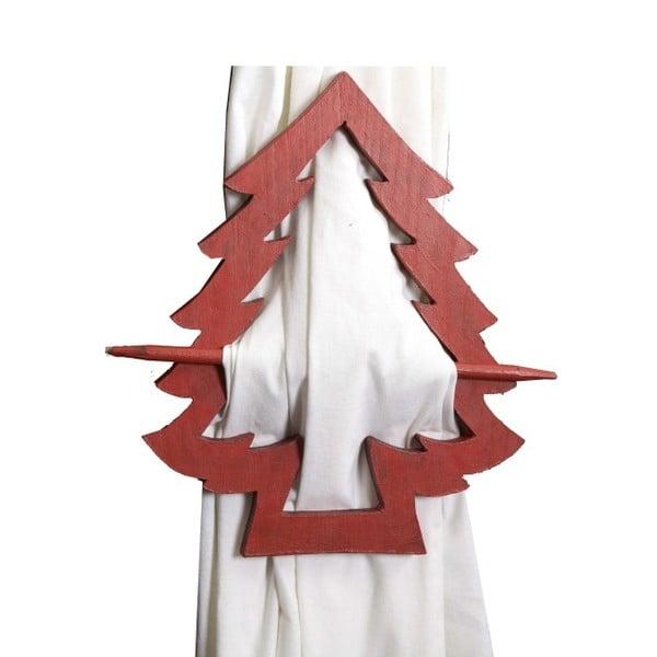 Dekorácia na závesy Antic Line Red Christmas tree