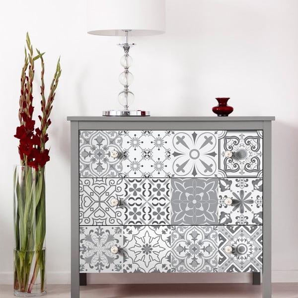 Set 30 autocolante de mobilier Ambiance Tiles Cineloto, 15 x 15 cm
