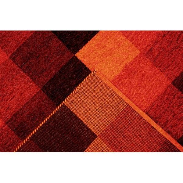 Vlněný koberec Baku Box Red, 70x140 cm