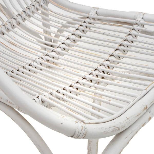 Bílé ratanové křeslo InArt Lounge